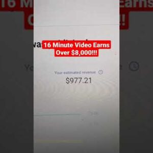 Earn Money On YouTube, $8,000 From One Video #shorts
